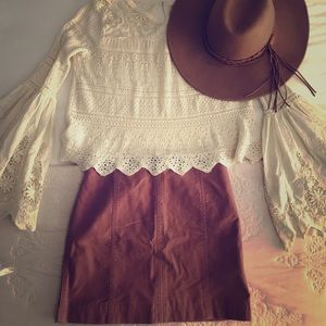 Free People Modern Femme Mini Skirt Rose Size 2
